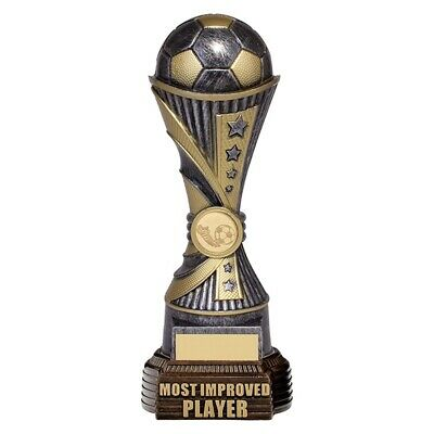 Football Most Improved Player Antique Silver and Gold 260mm FREE Engraving