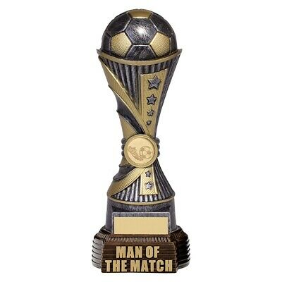 Football Man Of The Match Antique Silver and Gold 260mm FREE Engraving
