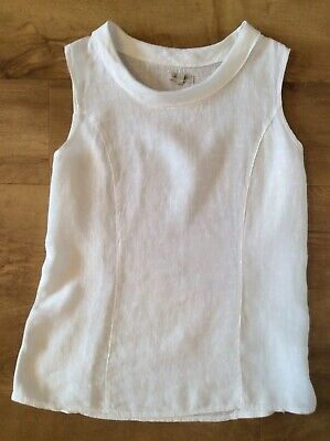 3206775eda LINA TOMEI MADE In Italy White Linen Top. L