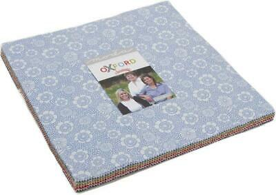 """Oxford Prints Layer Cake, 42-10"""" Precut Fabric Quilt Squares by Sweetwater"""