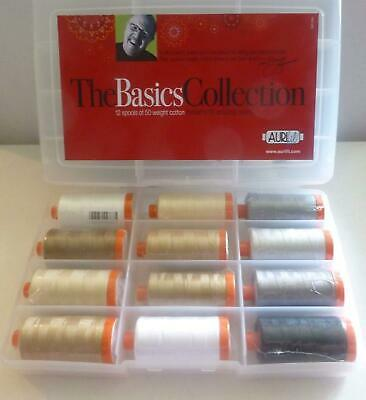 THE BASICS COLLECTION - Mark Lipinski 50wt 12 Lg Spools 1300m ea. Aurifil Thread