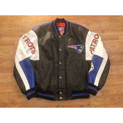 a7053bf0c G-III Carl Banks New England Patriots Leather Bomber Jacket Mens XL Vintage  NFL