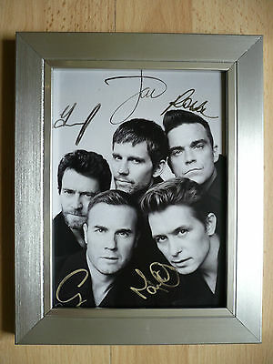 TAKE THAT Signed FRAMED Photo... NEW ...A5 size ! !