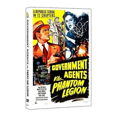 Government Agents Vs. Phantom Legion (DVD, 2013) 1951-Republic Serial-Crime