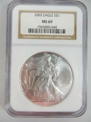 2002 American Silver Eagle, NGC MS69, ASE S$1,    #K24