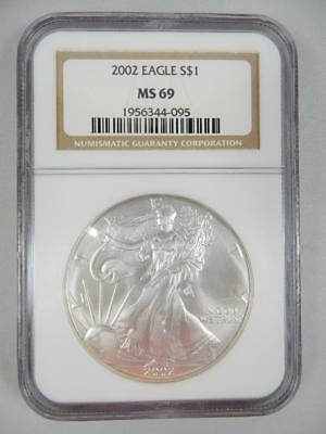 2002 American Silver Eagle, NGC MS69, ASE S$1,    #K23