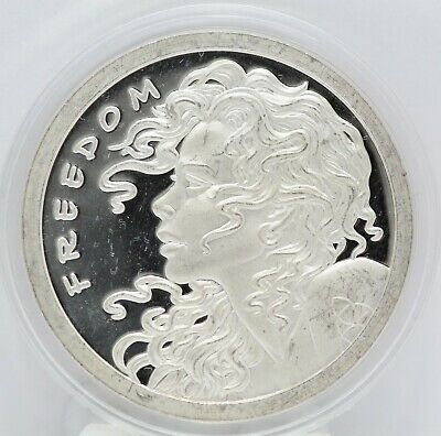 2013 Freedom Girl .999 Silver Bullet Shield 1 oz Art Medal - Round - Fine LE456