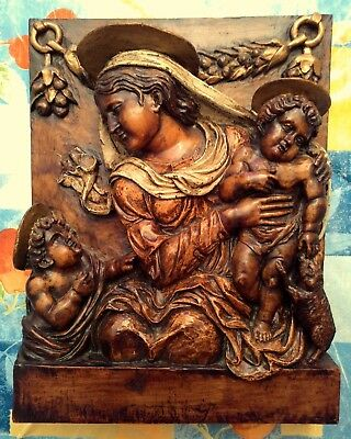 Antiguo Cuadro Religioso En Relieve