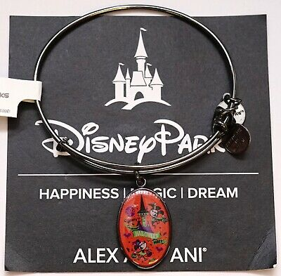 NEW Disney Alex And Ani 2018 Mickey's Not So Scary Halloween Silver Bracelet