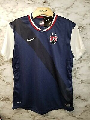 181c01e0ef71 Nike USA National Soccer Team Jersey Away 520543 410 Women s L RARE New  with tag