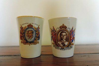 Royal coronation beakers – 1937 - vintage