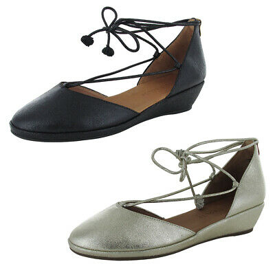 d44fc1848579 GENTLE SOULS WOMENS Nerissa Ghillie Wedge Shoes -  129.99