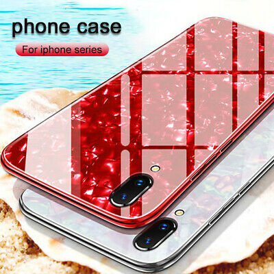 For iPhone XS MAX 7 8Plus Case Luxury Marble Tempered Glass Hard Phone Cover