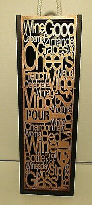 Lazer Cut Wood Wine Holder Carrier Gift Box