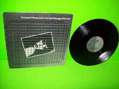 """Orchestral Manoeuvres In The Dark Messages 10"""" Vinyl Record DinDisc UK Rare OMD"""