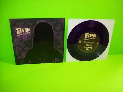 "ELVIRA Mistress Of The Dark 2 Big Pumpkins 7"" Vinyl Record HALLOWEEN Rare Purple"