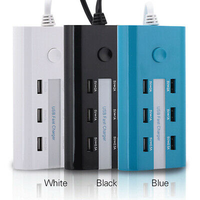 Universal  6 port USB Multi-function Charger Power Strip LED 1.5 Meters USA Plug