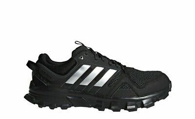 6108672adb714 Mens Adidas Rockadia Trail Running Shoes Size 9 Black Gray Grey Silver  CG3982
