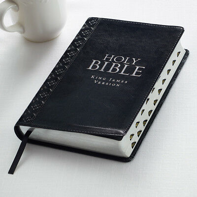 KJV Holy Black Gift Bible King James Version Red Letter Thumb Indexing
