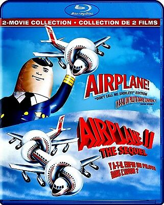 NEW BLU RAY - AIRPLANE + AIRPLANE 2 - THE SEQUEL - Peter Graves, Leslie Nielsen,