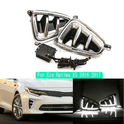 For Kia Optima K5 2016 2017 Car Led Daytime Running Light Drl Fog Driving Lamp