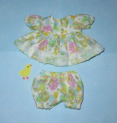 "Handmade Doll Clothes for 10"" Cabbage Patch Dolls - ""Easter Egg Hunt"" Dress Set"