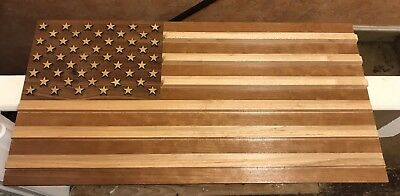 Wooden American Flag Challenge Coin Holder