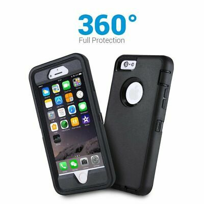 Slim Heavy Duty Rugged Builder Shockproof Military Case Cover Fr Apple iPhone SE