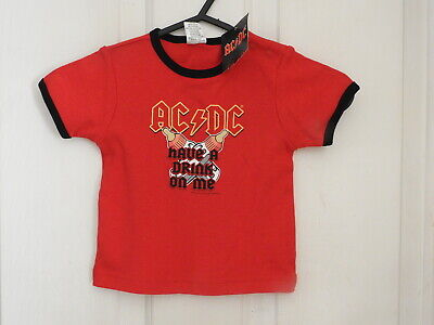 BNWT AC/DC Have a drink on me Tshirt Size 00