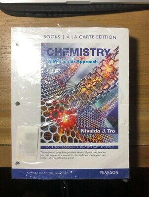 CHEMISTRY: A MOLECULAR Approach (4th Edition) by Nivaldo J  Tro ( Looseleaf  Ed )