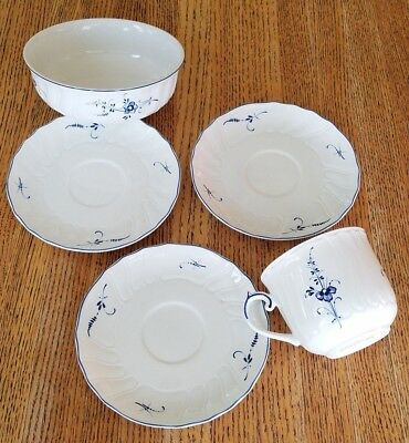 """Used Lot Of 5 Villeroy & Boch """"Vieux Luxembourg"""" Dishes - Excellent!"""