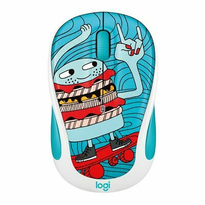 Logitech M238 Wireless Mouse Doodle Collection- Skateburger (Free Postage)