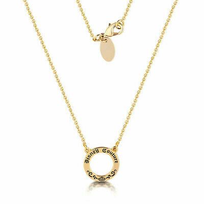 Disney Couture Kingdom - Signature Charm Necklace Yellow Gold Authentic