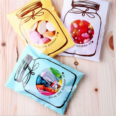 100pcs Bottle Style Candy Biscuit Wrapping Treat Gift Bags B
