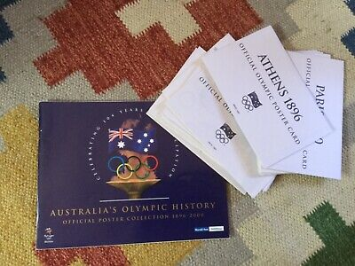 Herald Sun Olympic History book with collector postcards