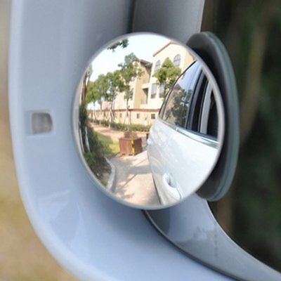 2x Car Rear Side view Blind Spot Convex Wide Angle Adjustable Rimless Mirror 1S