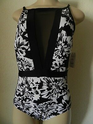 e8ccb0bb5b TIME AND TRU Women's Floral Burst One-Piece Swimsuit Size Large (12 ...
