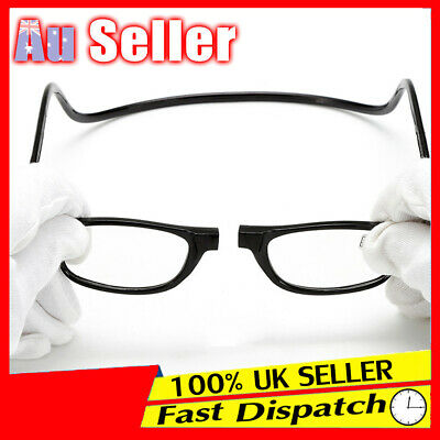 1.0~3.5 Magnetic Reading Folded Hanging Spectacle Magnifying Mens Ladies Glasses