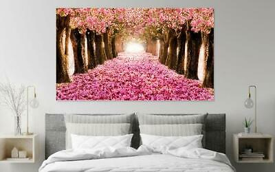 Beautiful Pink Blooms Trees Scenery Print Home Decor Wall Art choose your size