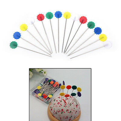 50pc Patchwork Pins Flower Button Head Pins DIY-Quilting Tool#