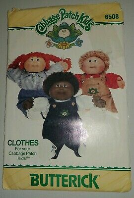 Vintage Butterick Sewing Pattern 6508 Craft Cabbage Patch Doll Clothes Overalls