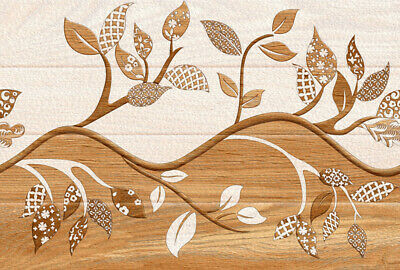 Amazing Abstract Leaves Brown Design Print Home Decor Wall Art choose your size