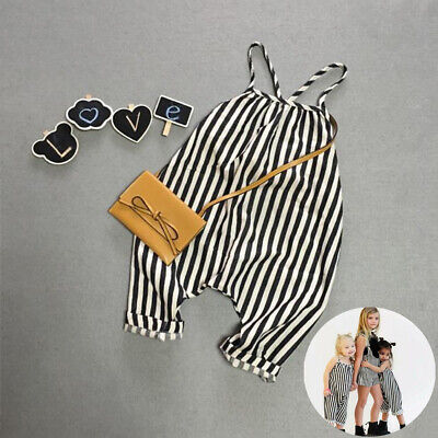 b194400c3 CUTE TODDLER KIDS Baby Girl Stripe Flared Pants Overalls Jumpsuit ...