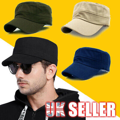 Plain Hat Baseball Army Patrol Adjustable Classic Style Cadet Field Military Cap