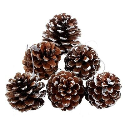 UK Christmas Pine Cones Hanging Xmas Tree Decoration Ornaments Pendant O7A4