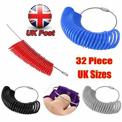 UK Ring Sizer Measure Finger Size For Men and Women Sizes A-Z REUSABLE Gauge NEW
