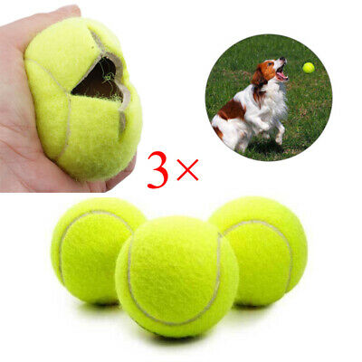 3× New Pets Puppy Dogs Play Games Toys Sanitised Tennis Large Bouncing Balls UK