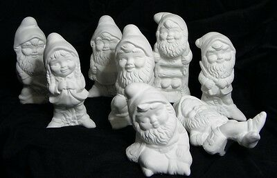 Ceramic Bisque Ready to Paint Garden Gnomes / gnome asstd designs to choose from