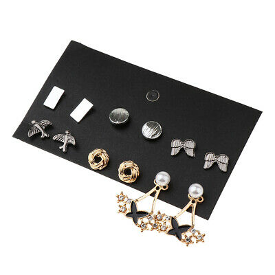6Pairs Wholesale Mixed Style Ear Stud Earrings Set Daily Life Party Wearing