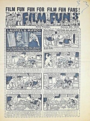 FILM FUN - 8th JANUARY 1949 (4 - 10 Jan) - YOUR WEEK OF BIRTH ?? VG+ dandy radio